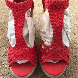 Mossimo Red Wedges